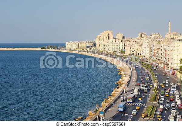 エジプト, 港, アレキサンドリア, 光景 - csp5527661