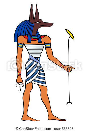 エジプト, 神, anubis, 古代, - - csp4553323