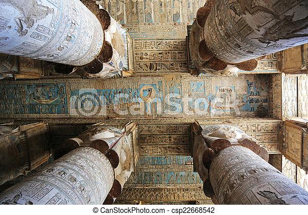 エジプト, dendera, 寺院 - csp22668542
