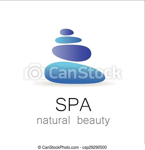 エステ, 自然の美しさ, テンプレート, ロゴ - csp29290500