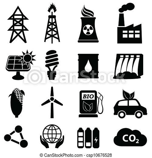 エネルギー, セット, アイコン - csp10676528