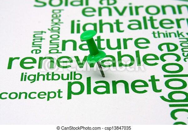 エネルギー, 単語, 回復可能, 雲 - csp13847035