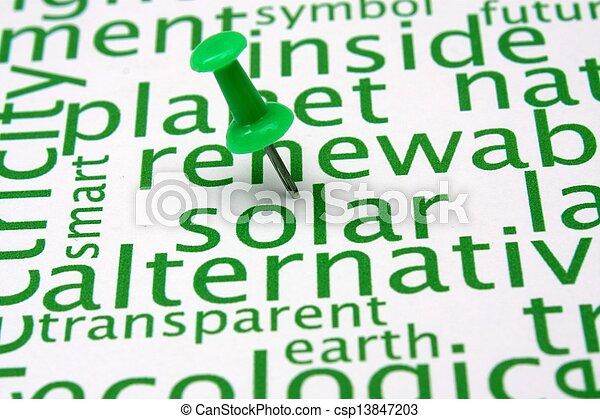 エネルギー, 単語, 回復可能, 雲 - csp13847203
