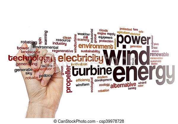 エネルギー, 単語, 風, 雲 - csp39978728