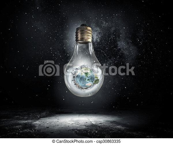 エネルギー, 概念, セービング - csp30863335