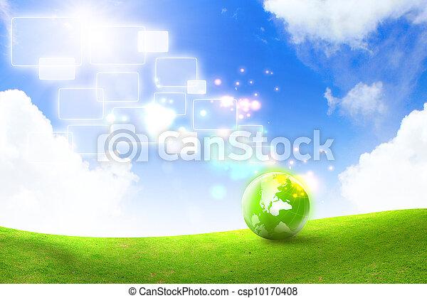 エネルギー, 概念, 緑 - csp10170408