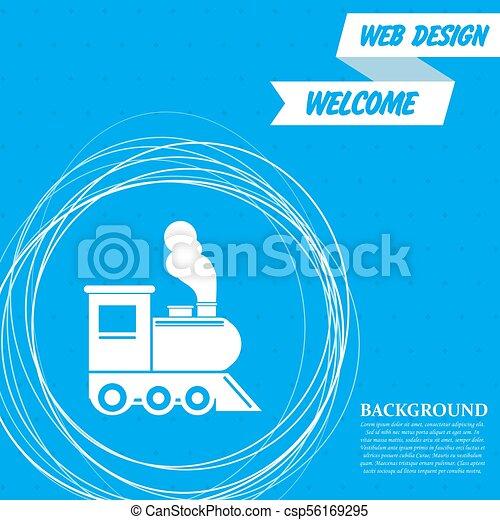 エンジン, 円, 古い, のまわり, クラシック, 列車, 抽象的, 青, text., 機関車, ベクトル, 場所, 蒸気, 背景, あなたの, アイコン - csp56169295