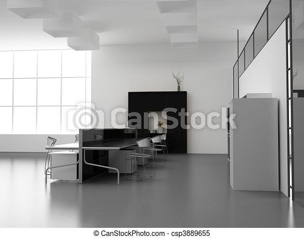 オフィスの内部, 現代 - csp3889655