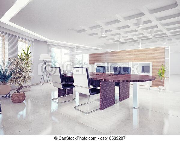 オフィスの内部 - csp18533207