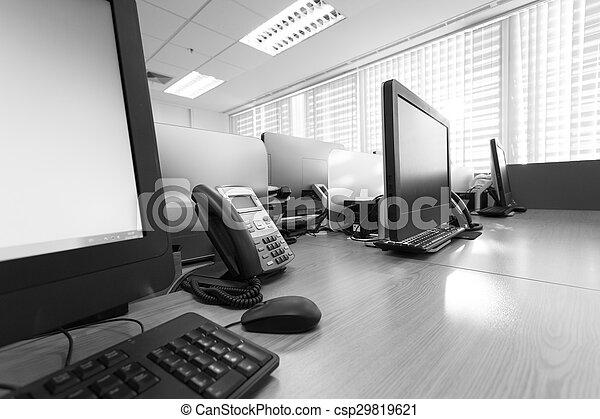 オフィスの 仕事, 電話, pc コンピュータ, テーブル - csp29819621
