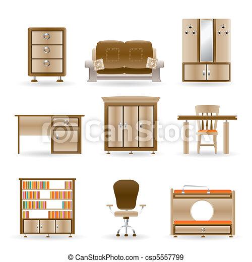 オフィス家具, 家 - csp5557799