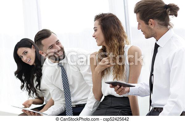 オフィス。, チーム, タブレット, ビジネス, モデル - csp52425642