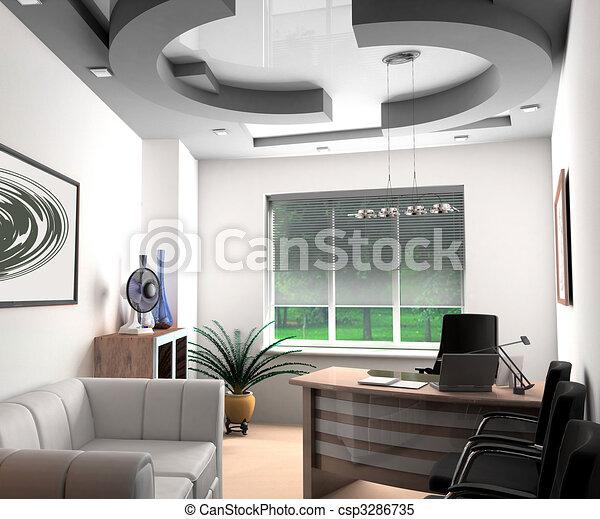 オフィス, 現代 - csp3286735