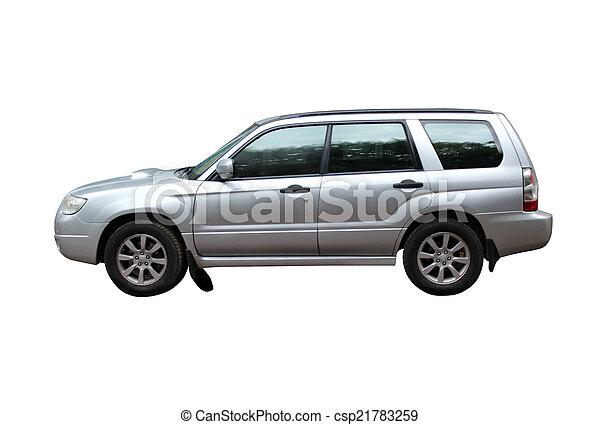 オフロード, 白, 隔離された, 背景, 車 - csp21783259