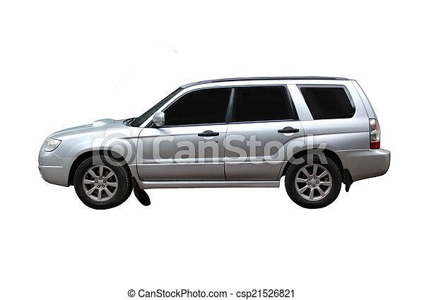 オフロード, 白, 隔離された, 背景, 車 - csp21526821