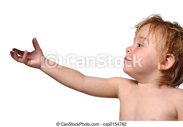 オブジェクト, よちよち歩きの子, 手を伸ばす - csp0154762