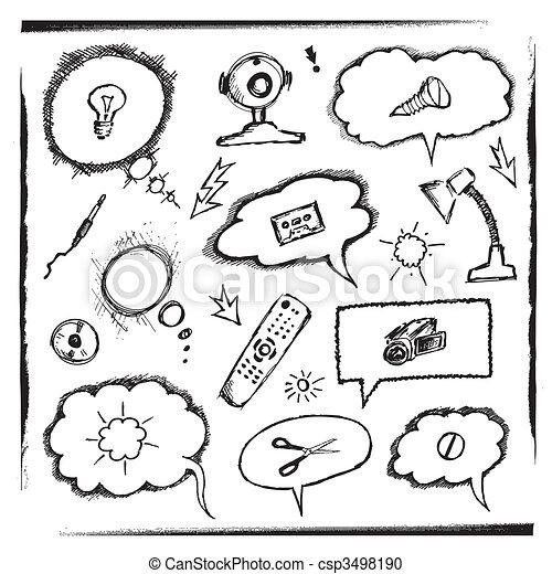オブジェクト, 考え, 泡 - csp3498190