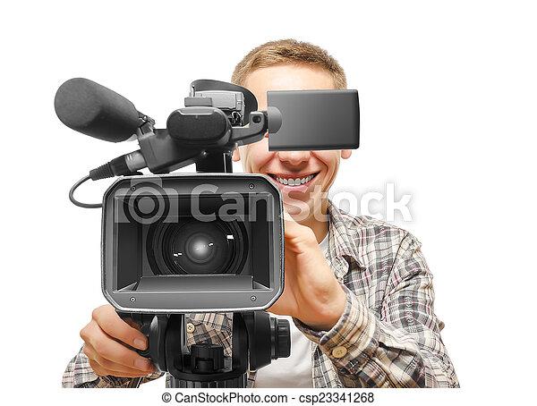 オペレーター, カメラ, ビデオ - csp23341268