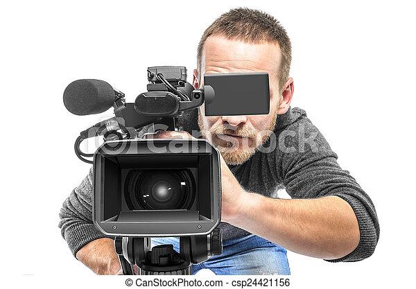 オペレーター, カメラ, ビデオ - csp24421156