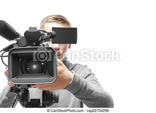 オペレーター, カメラ, ビデオ - csp22704299