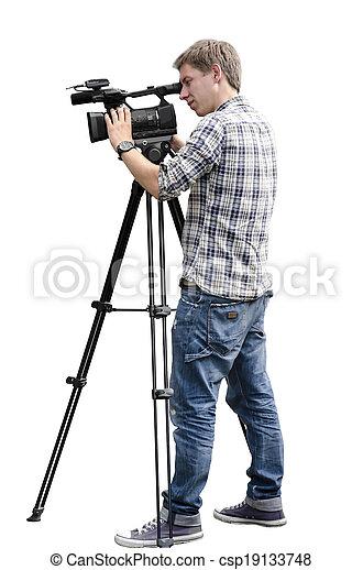オペレーター, カメラ, ビデオ - csp19133748