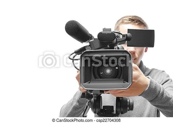 オペレーター, カメラ, ビデオ - csp22704308