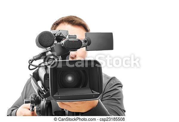 オペレーター, カメラ, ビデオ - csp23185508