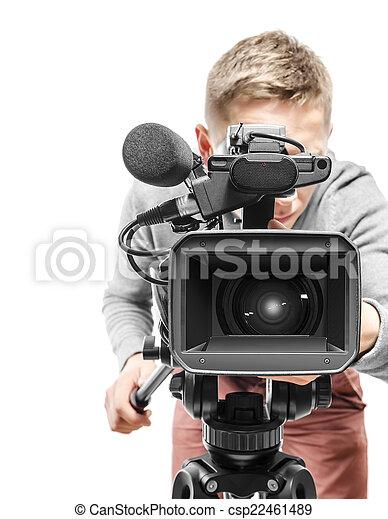 オペレーター, カメラ, ビデオ - csp22461489
