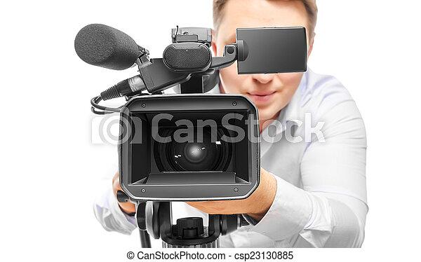 オペレーター, カメラ, ビデオ - csp23130885