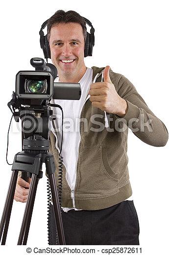 オペレーター, カメラ - csp25872611
