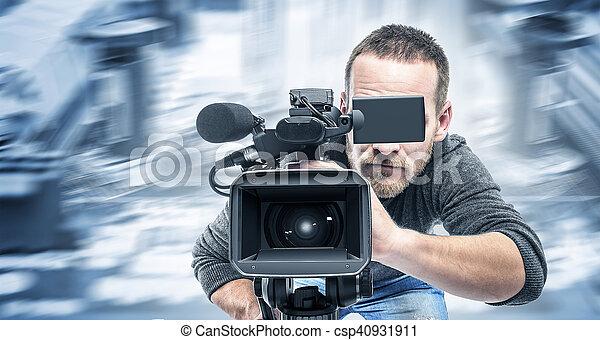オペレーター, レコード, video., ビデオ - csp40931911