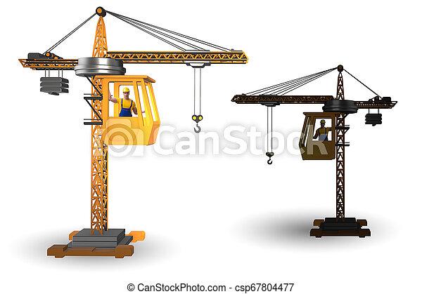 オペレーター, 作動させる, クレーン, 建設 - csp67804477