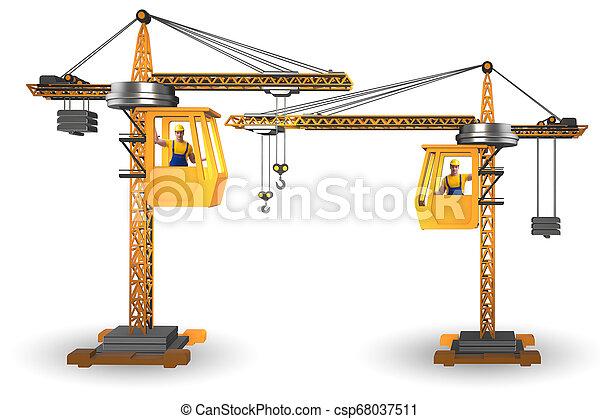 オペレーター, 作動させる, クレーン, 建設 - csp68037511