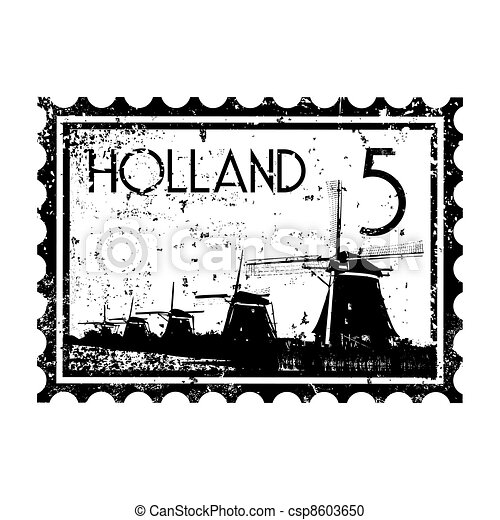 オランダ, イラスト, 隔離された, アイコン, ベクトル, 単一 - csp8603650