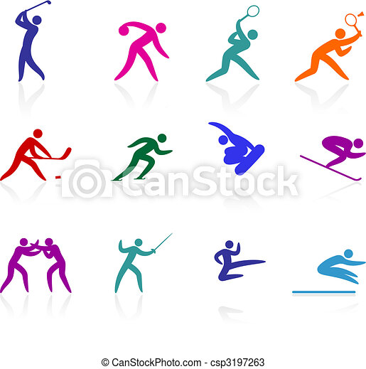 オリンピック, アイコン, コレクション, competative, スポーツ - csp3197263