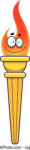 オリンピック, トーチ, 漫画 - csp23456202