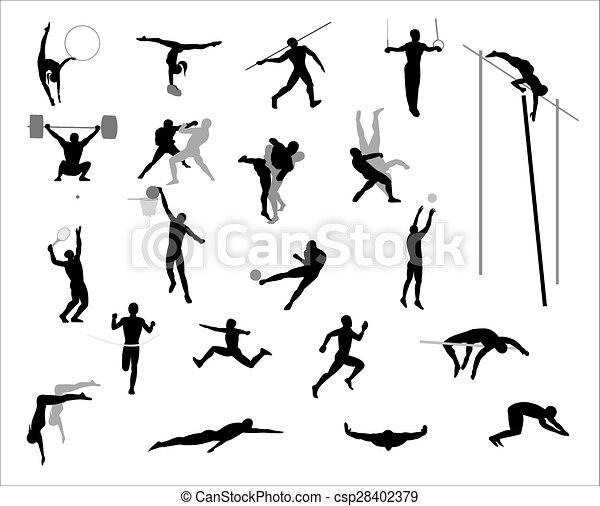 オリンピック, games., vector. - csp28402379