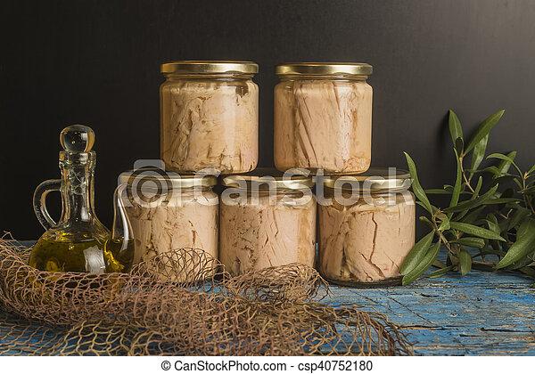 オリーブ, albacore, オイル, ジャム - csp40752180