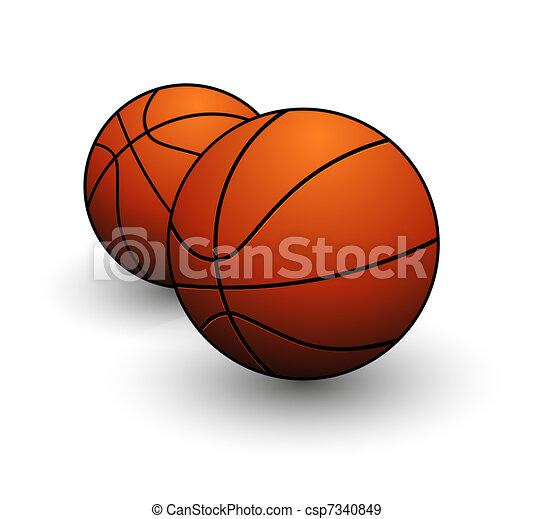 オレンジ色の色, バスケットボールボール, 印 - csp7340849