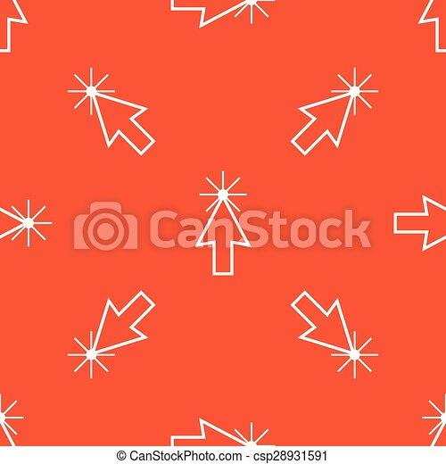 オレンジ, カーソル, 矢パターン - csp28931591