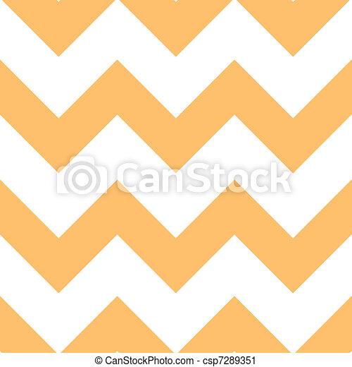 オレンジ, パターン, creme, 山形そで章 - csp7289351