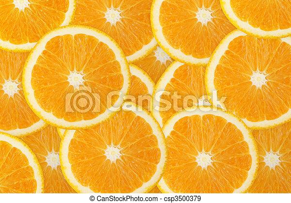 オレンジ, フルーツ, 水分が多い, 背景 - csp3500379