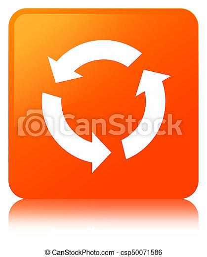 オレンジ, ボタン, 広場, 新たにしなさい, アイコン - csp50071586