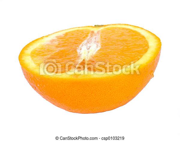 オレンジ, 半分 - csp0103219