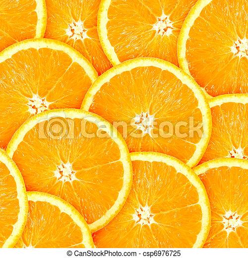 オレンジ, 抽象的, に薄く切る, 背景, citrus-fruit - csp6976725