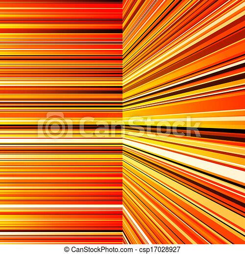 オレンジ, 抽象的, 曲げられた, ストライプ, 黄色 - csp17028927