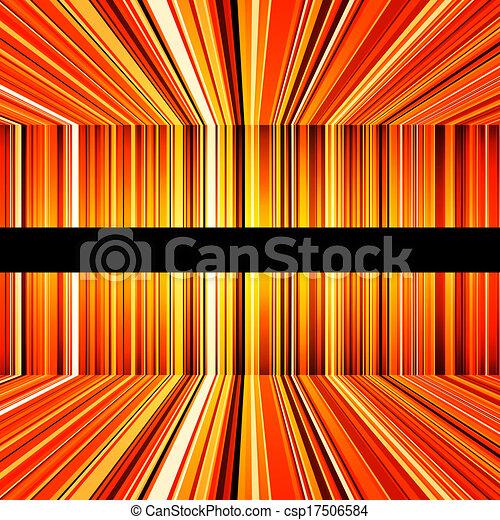 オレンジ, 抽象的, 曲げられた, ストライプ, 黄色 - csp17506584