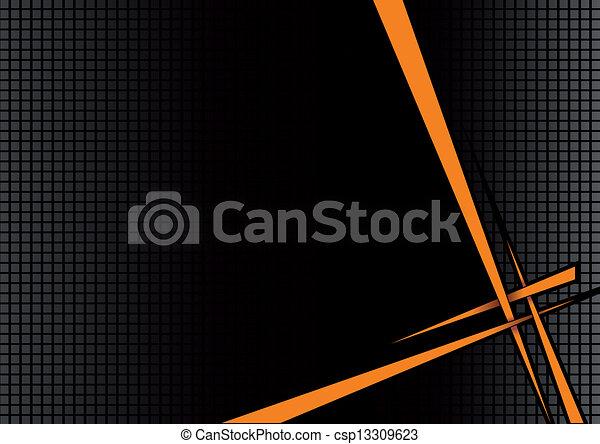 オレンジ, 黒い背景, ディスコ - csp13309623