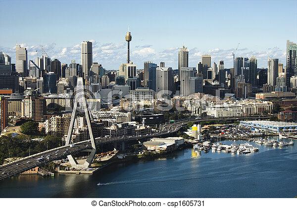 オーストラリア, シドニー, aerial. - csp1605731
