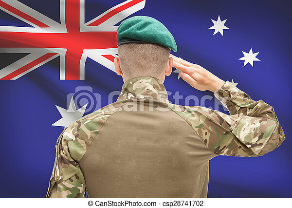 オーストラリア, 力, シリーズ, 国民, -, 旗, 背景, 概念, 軍 - csp28741702
